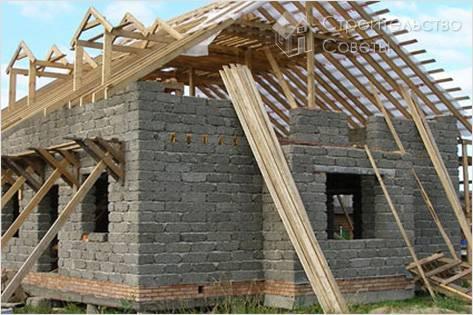 Монолитный дом из опилкобетона своими руками фото